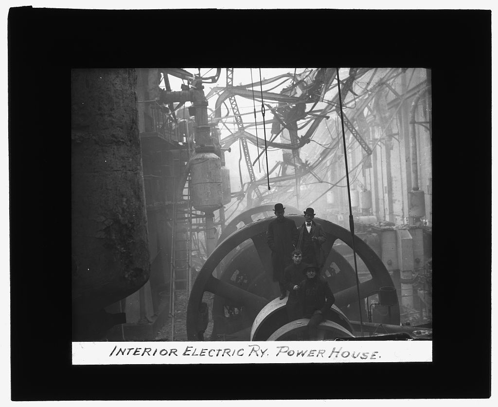 [Baltimore fire, 1904] Interior, Electric Ry. Power House