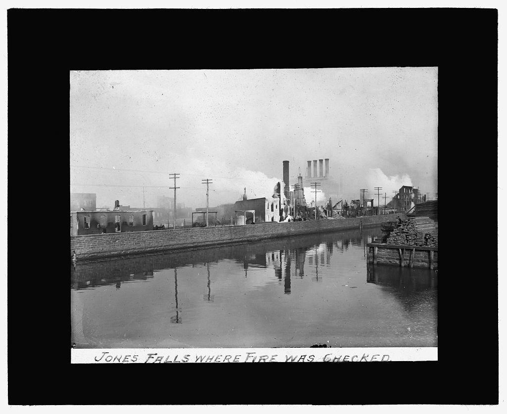 [Baltimore fire, 1904] Jones Falls, where fire was checked
