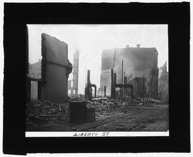 [Baltimore fire, 1904] Liberty St.