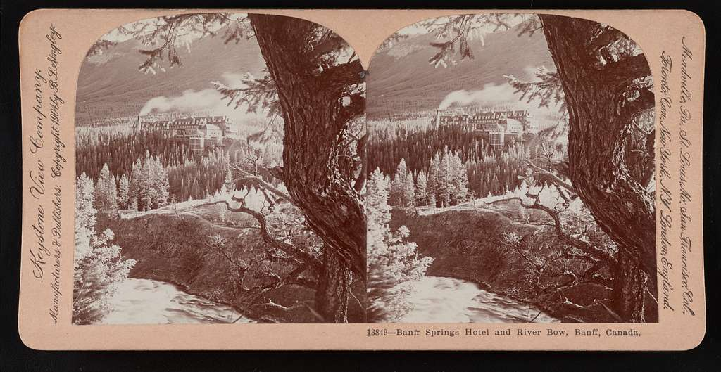 Banff Springs Hotel and River Bow, Banff, Canada