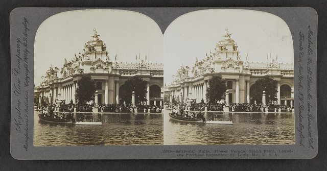 Battleship Maine, Flower Parade, Grand Basin, Louisiana Purchase Exposition, St. Louis, Mo., U.S.A.
