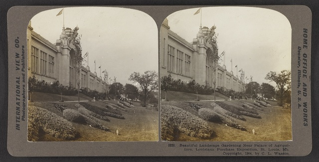 Beautiful landscape gardening near Palace of Agriculture. Louisiana Purchase Exposition, St. Louis, Mo.