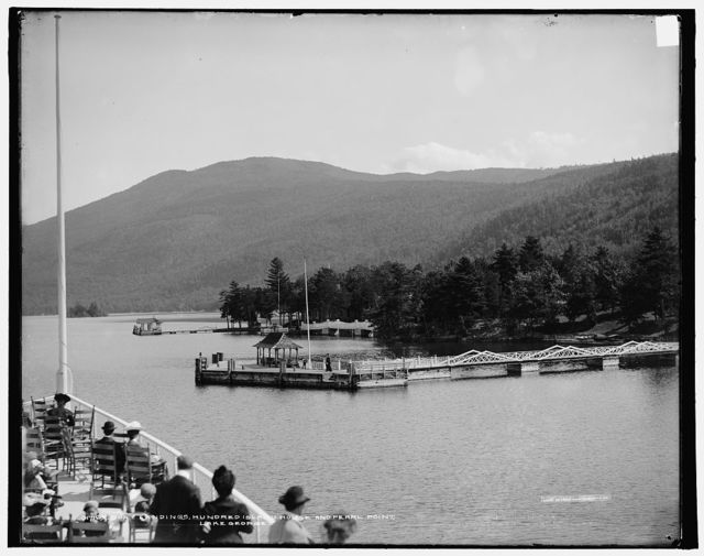 Boat landings, Hundred Island House and Pearl Point, Lake George
