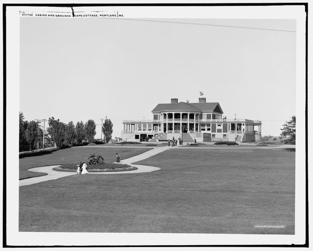 Casino and grounds, Cape Cottage, Portland, Me.