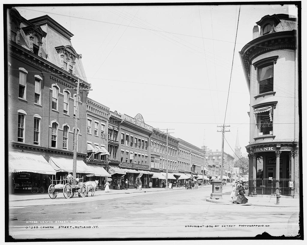 Centre [i.e. Center] Street, Rutland, Vt.