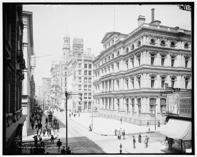 Chestnut Street and post office, Philadelphia, Pa.
