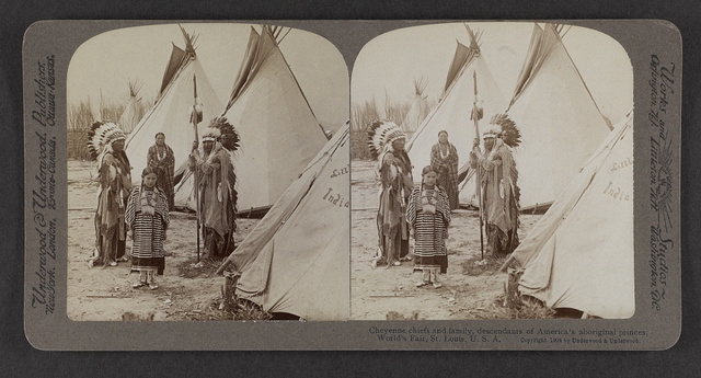 Cheyenne chiefs and family, descendants of America's aboriginal princes, World's Fair, St. Louis, U.S.A.