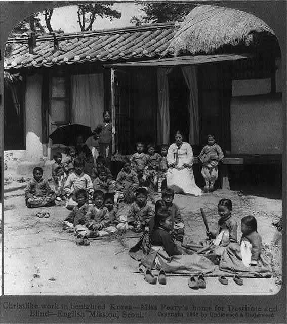 Christlike work in benighted Korea - Miss Peary's home for destitute and blind, English Mission, Seoul
