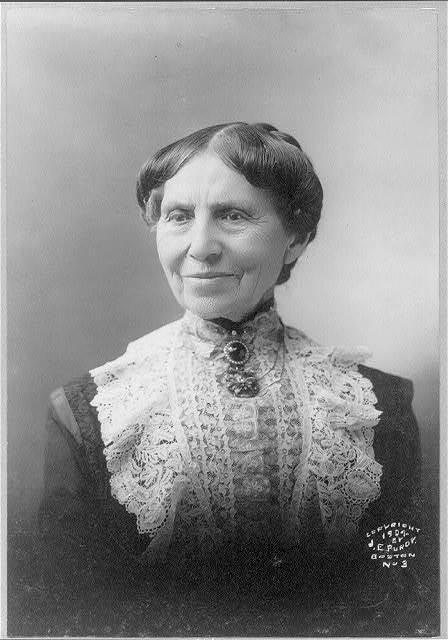[Clara Barton, 1821-1912, head-and-shoulders portrait, facing left]