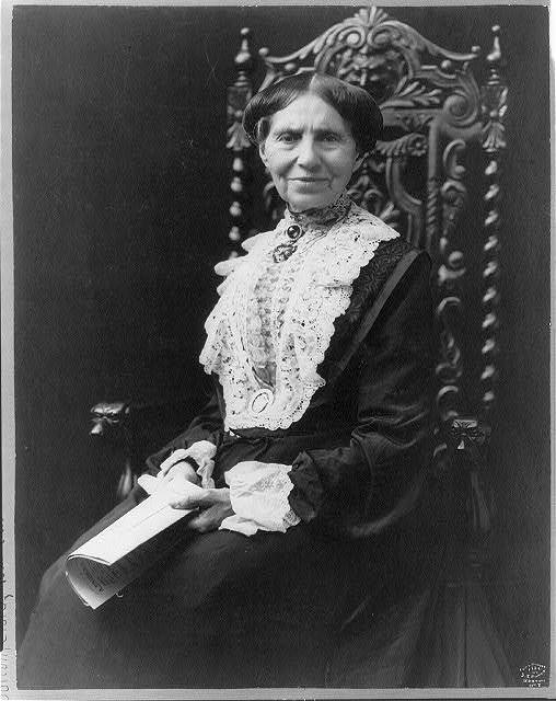 [Clara Barton, 1821-1912, three-quarter length portrait, seated, facing front]