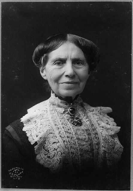 [Clara Barton, head-and-shoulders portrait, facing front]