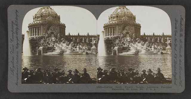 Cowboy band, Flower Parade, Louisiana Purchase Exposition, St. Louis, Mo., U.S.A.