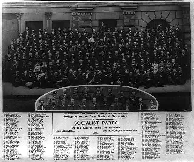 Delegates to the First National Convention of the Socialist Party of the United States of America, held at Chicago, Illinois, May 1st, 2nd, 3rd, 4th, 5th and 6th, 1904