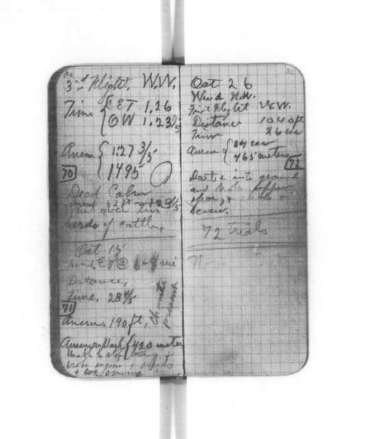 Diaries and Notebooks:  1904-1905, Wilbur Wright