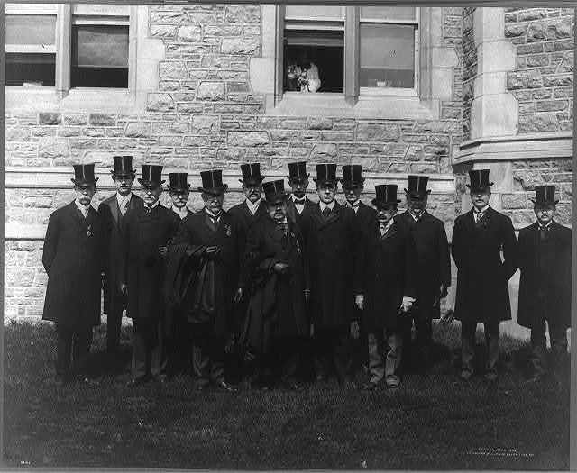 Director of Exhibits, Frederick James Volney Skiff, and staff, St. Louis Exposition, 1904