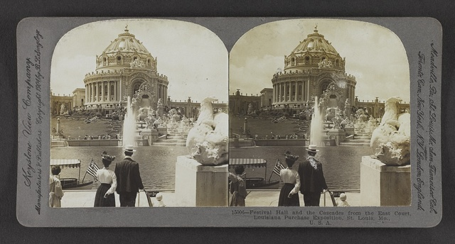 Festival Hall and the Cascades from the East Court, Louisiana Purchase Exposition, St. Louis, Mo., U. S. A.