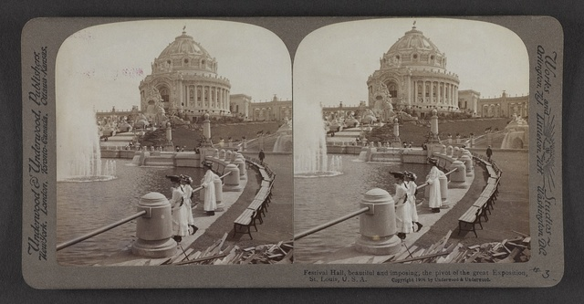 Festival Hall, beautiful and imposing, the pivot of the great Exposition, St. Louis, U. S. A.