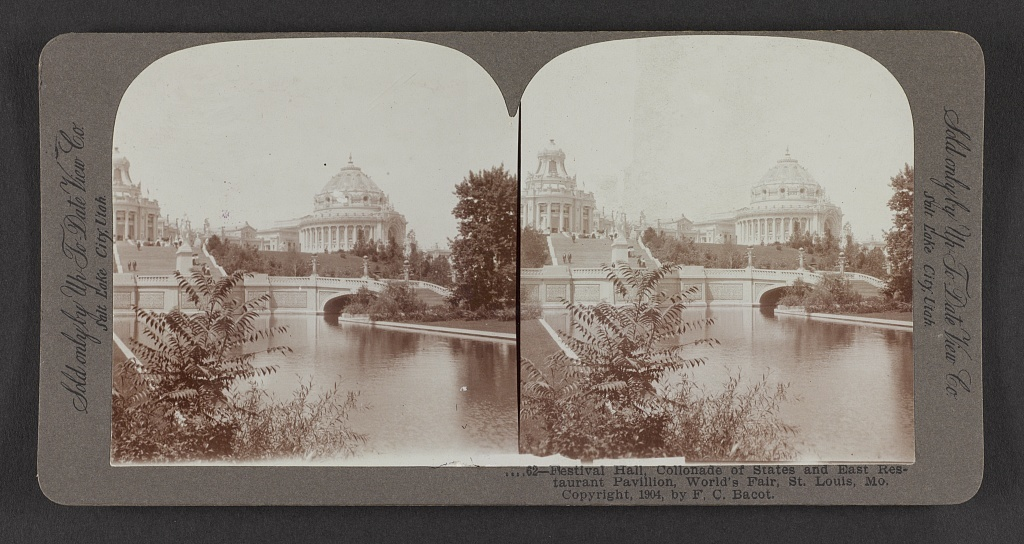 Festival Hall, Colonnade of States and East Restaurant Pavilion, World's Fair, St. Louis, Mo.