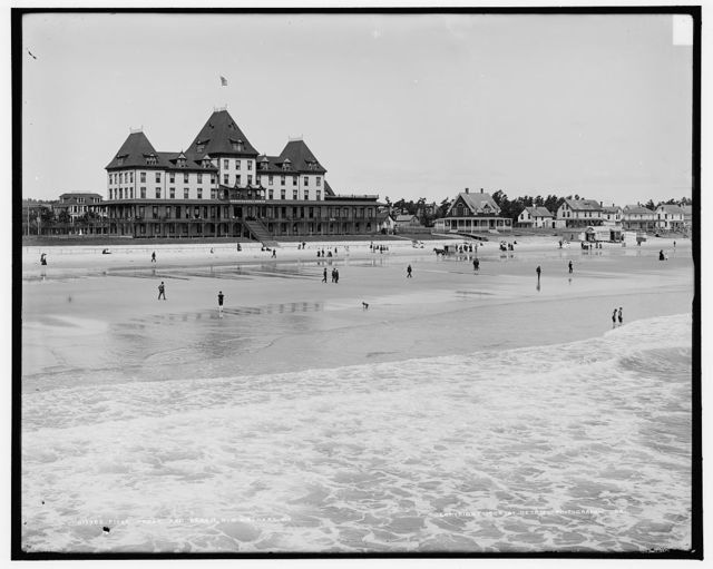 Fiske House and beach, Old Orchard, Me.