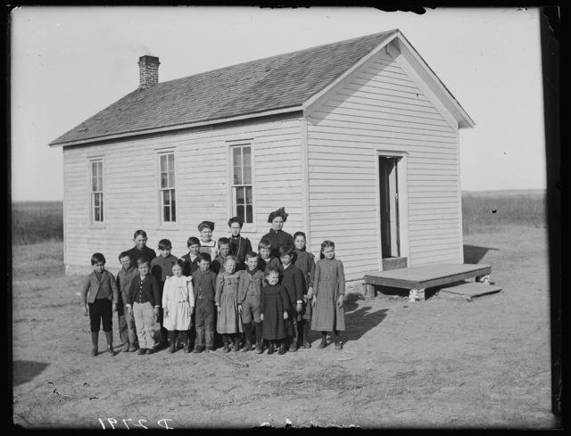 Flagg Ranch School near Miller Post Office, Buffalo County, Nebraska.