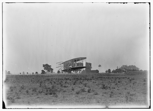 [Flight 19: Orville piloting, covering a distance of 356 feet, machine close to the ground; Huffman Prairie, Dayton, Ohio]
