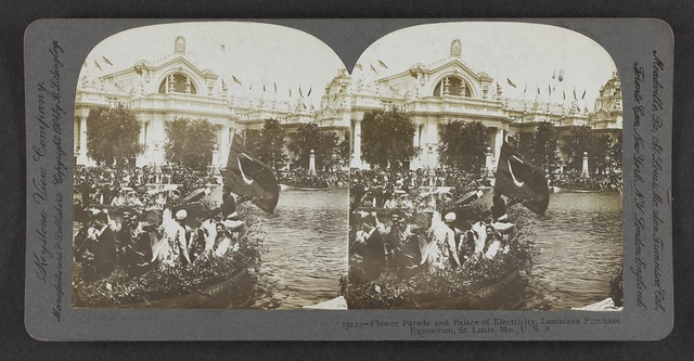 Flower Parade and Palace of Electricity, Louisiana Purchase Exposition, St. Louis, Mo., U.S.A.
