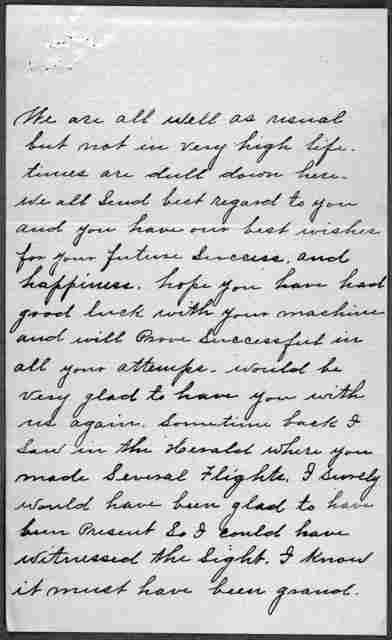 General Correspondence:  Daniels, John T., 1904-1906, 1927-1932