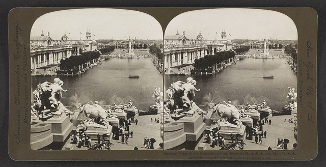 General view of the exposition from Festival Hall, St. Louis, Mo., U. S. A.