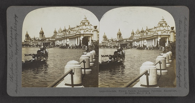 Gondola, Flower Parade, Louisiana Purchase Exposition, St. Louis, Mo., U.S.A.