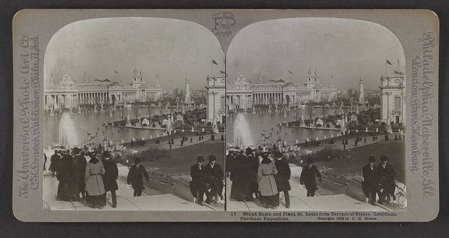 Grand Basin and Plaza St. Louis from Terrace of the States, Louisiana Purchase Exposition