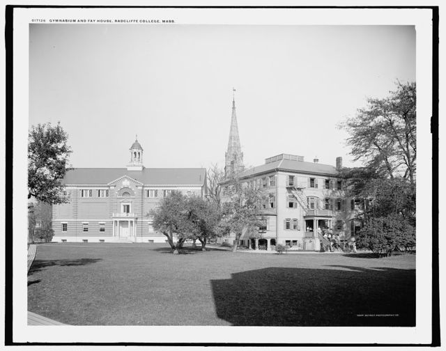 Gymnasium and Fay House, Radcliffe College, Mass.