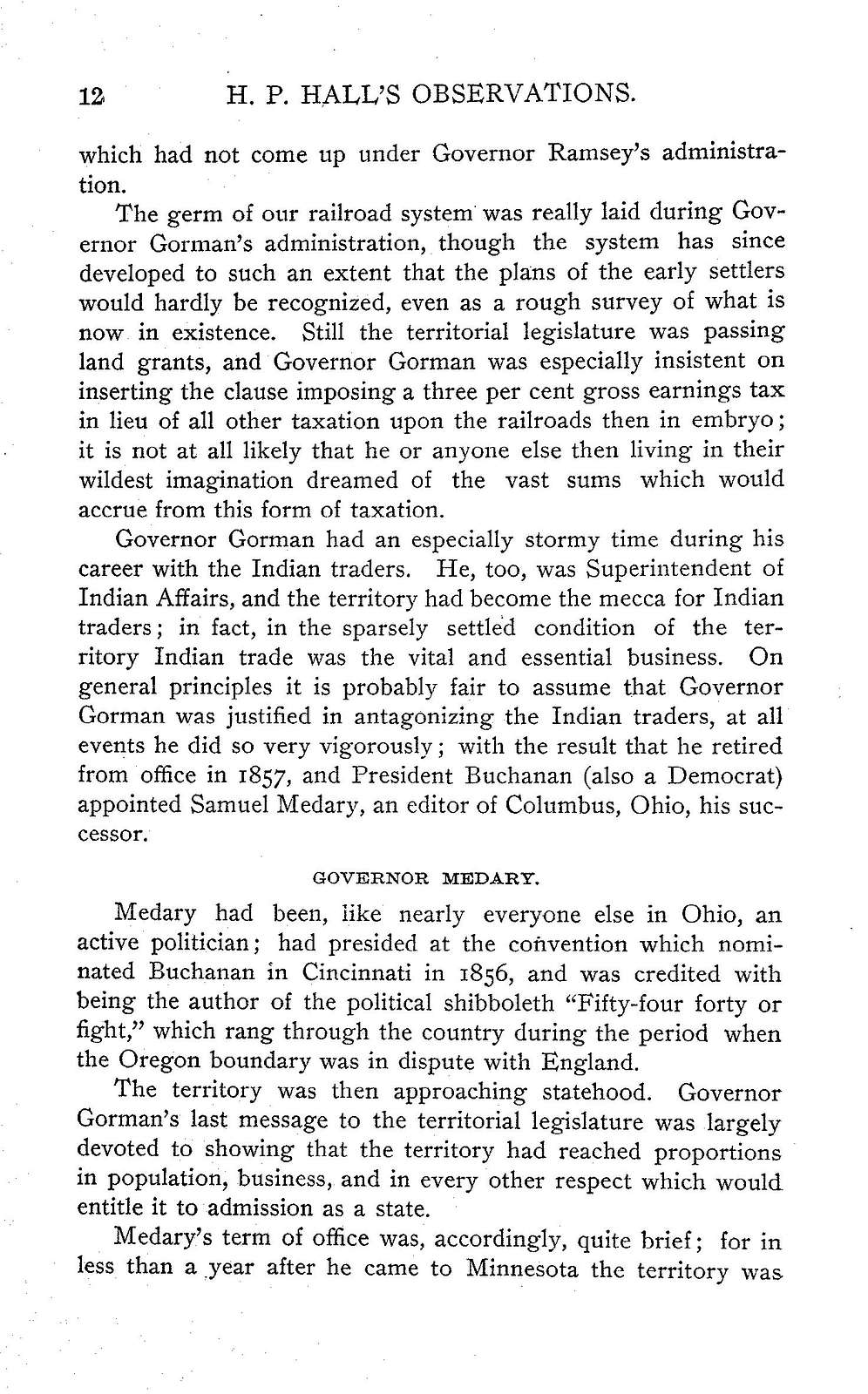 H. P. Hall's observations; being more or less a history of political contests in Minnesota from 1849 to 1904