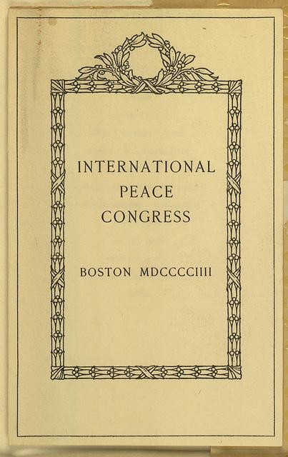 International Peace Congress Program