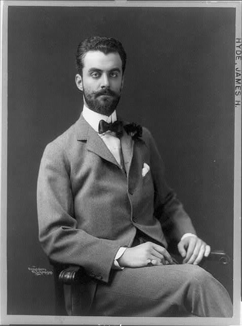 [James Hazen Hyde, three-quarter length portrait, seated, facing right]