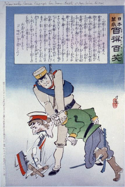 Japan makes Russia disgorge her brave threats of days before the war