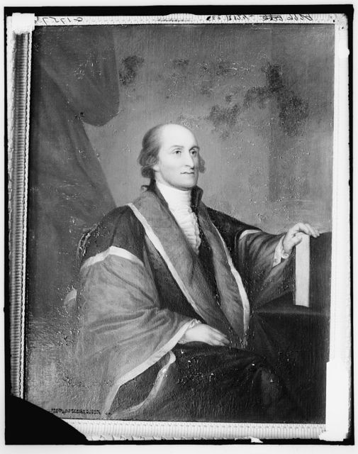 [John Jay, seated in chair, three-quarter length portrait]