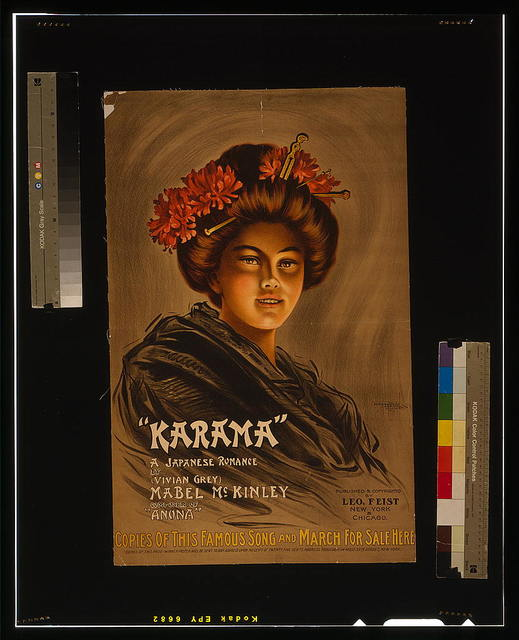 """Karama"" a Japanese romance by (Vivian Grey), Mabel McKinley composer of ""Anona"" / / The Donalson Litho. Co., Newport, KY."