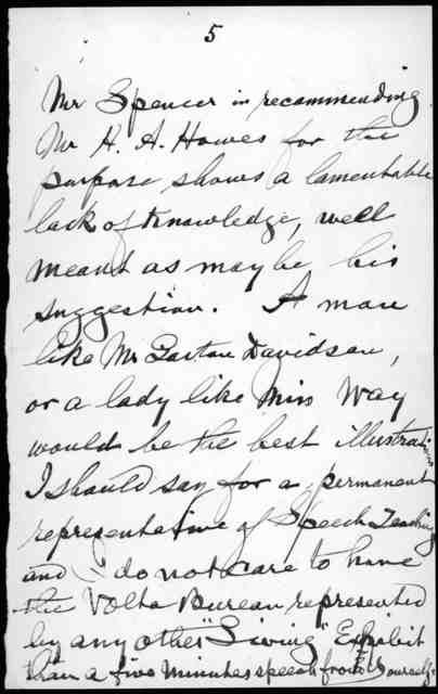 Letter from John Hitz to Alexander Graham Bell, July 1, 1904