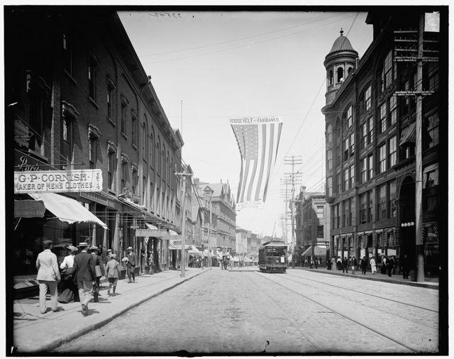 [Looking down Congress St. from Congress Square, Portland, Me.]