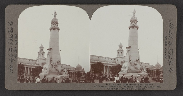 Louisiana Monument and Palace of Varied Industries, World's Fair, St. Louis, Mo.