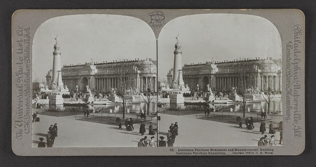 Louisiana Purchase Monument and Manufacturers' Building, Louisiana Purchase Exposition