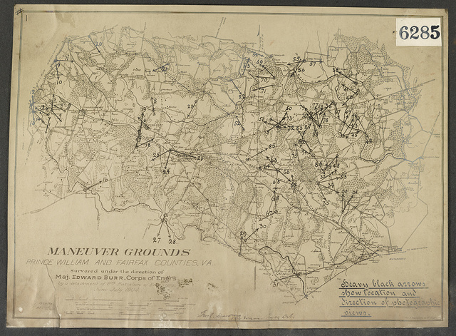 Maneuver grounds Prince William and Fairfax Counties, Va. / / Surveyed under the direction of Maj. Edward Burr, Corps of Engrs.