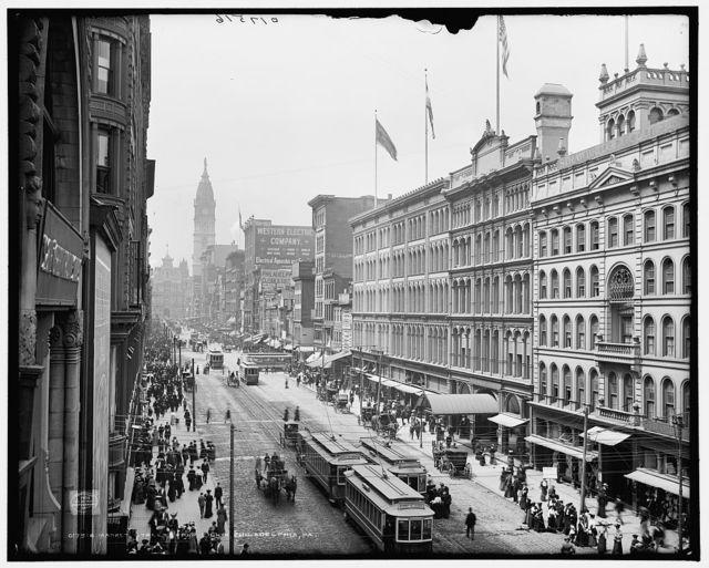 Market Street from Eighth, Philadelphia, Pa.