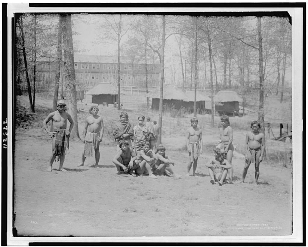 [Marriage party of Igorots(?) at Louisiana Purchase Exposition, 1904]