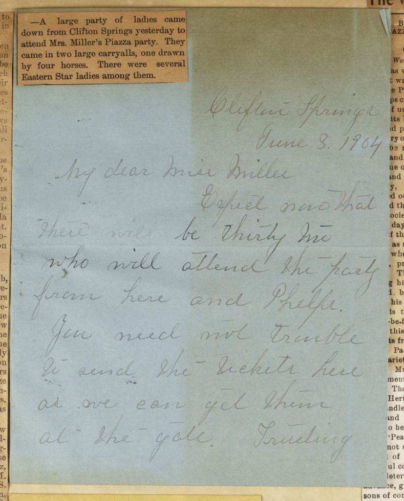 Mary Coolidge to Anne Fitzhugh Miller, June 3, 1904