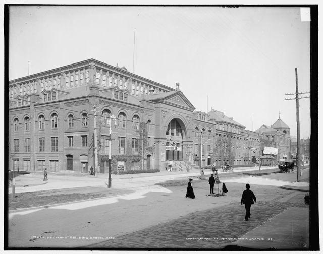 Mechanics' Building [Mechanic's Hall], Boston, Mass.