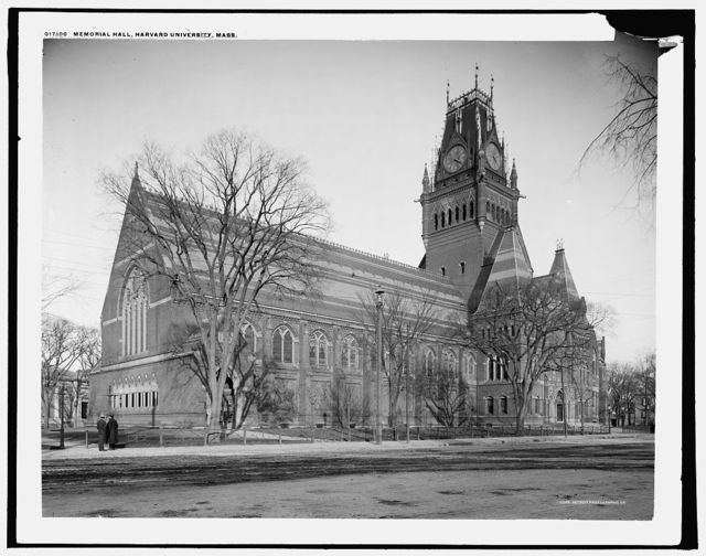 Memorial Hall, Harvard University, Mass.