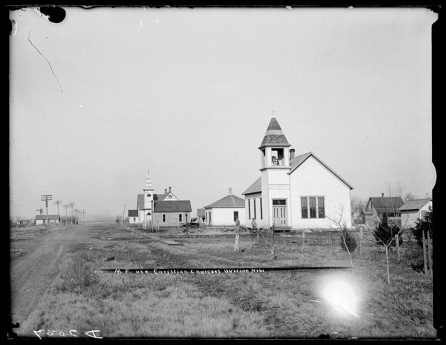 Methodist and Christian Church, Overton, Nebraska