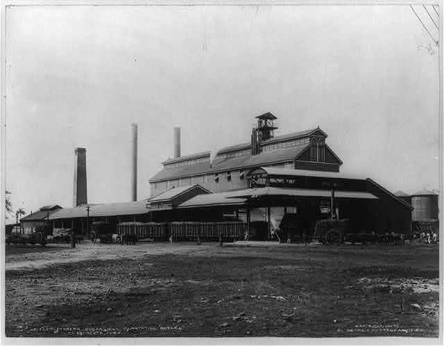 Modern sugar mill, plantation Rosario at Aguacate, Cuba
