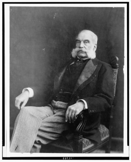 [Morris Ketchum Jesup, three-quarter length portrait, seated, facing left]
